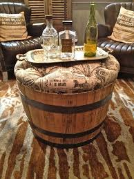 Vintage Wine Barrel Cocktail Ottoman