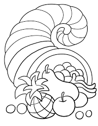 Small Picture Thanksgiving Cornucopia Coloring Pagejpg Fall Pinterest