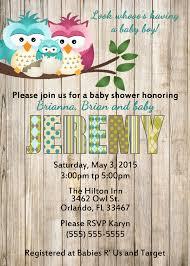 Items Similar To Owls Baby Shower Invitation Printable Gender Owl Baby Shower Invitations For Boy