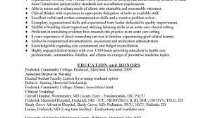 Sample Nursing Resumes Collection Of Solutions Sample Er Nurse