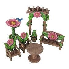 furniture fairy. Furniture Fairy. Seven Piece Flower Patio Set - Earth Fairy I