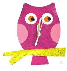 baby owl wall clock fuschia