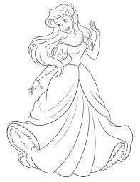 Coloriage Princesse La Petite Sir Ne Imprimer