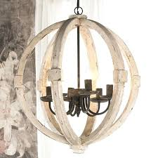 distressed white wood chandelier globe elegant french