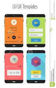 Ux Flat Design Flat Ui Or Ux Mobile Apps Kit Stock Illustration