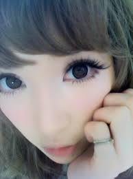 i take lots of inspiration from gyaru eye makeup and makeup tutorials from magazines like pop and random references like the picture below