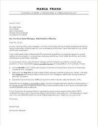 Cover Letter Example For Sales Resume Letter Collection