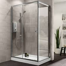 Plumbsure Rectangular Shower Enclosure with Single Sliding Door (W)1200mm  (D)760mm | Departments | DIY at B&Q