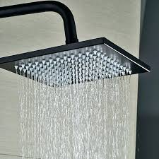 moen square shower head brushed bronze shower head oil rubbed bronze wall mounted square rainfall shower