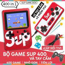KM - Máy chơi game đôi ( 2 người chơi) Sup 400 1+1 400 game - Tặng kèm 1  tay game rời