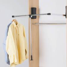 hafele pull down wardrobe rails chrome with black lift