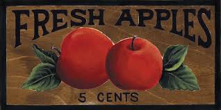 Apple Wall Decor Kitchen 45x10 Wooden Country Kitchen Primitive Fresh Cherries Wood Wall