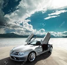 beautiful sport car open door with nice background stock photo 93293529