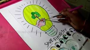 Save Electricity Chart How To Draw Save Electricity Save Energy Drawing
