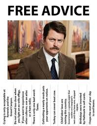 Ron Swanson Chart Of Manliness Free Download Life Advice From Ron Swanson Ron Swanson