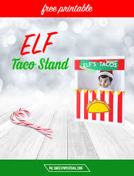 ELF ON THE SHELF FREE PRINTABLE TACO STAND