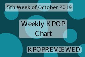 Kpop Chart 2019 Weekly Chart 5th Week Of October 2019 Kpopreviewed