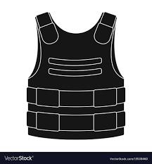 Bulletproof Vest Designer Bulletproof Vest Icon In Black Style Isolated On