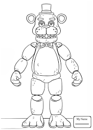 Fnaf Coloring Pages Foxy 4 On Five Nights At Freddys Coloring Pages