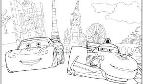 free printable color pages for s cars 2 mcqueen coloring