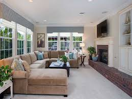 Family Room Decorating Pictures Narrow Family Room Decorating With Fireplace Under Led Tv