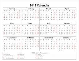 pdf printable calendar printable yearly printable 2019 calendar pdf template