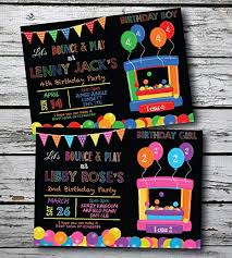 Personalised Birthday Invitations For Kids 10 Personalised Kids Bouncy Castle Boy Girl Birthday Party