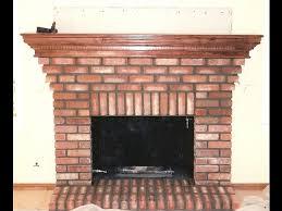 brick fireplace and hearth custom wood mantel