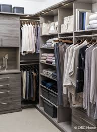 custom closet with hanging drawers and shelf space innovate home org columbus ohio