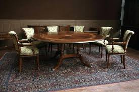 84 inch round table furniture varnished black round dining table with leaf from the exotic style