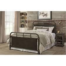 Westminster King Single Metal Bed Frame in Rustic Brown