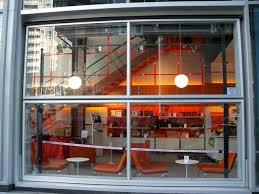 glass bifold door on new york restaurant