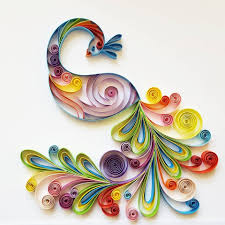 Quilling Home Decor Quilled Paper Art Colourful Peacock Handmade