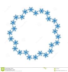 Blank Snowflake Template Snowflake Design For Frame Background Vector Illustration