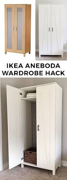 diy apartment furniture. diy ikea hack farmhouse style wardrobe from the aneboda diy apartment furniture a