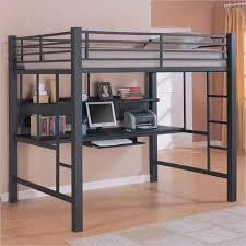metal ikea loft bed with desk