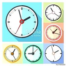 office clocks. Office Wall Clocks Modern Icon Set Vector Illustration For Sale Canada