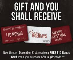 outback steakhouse holiday gift card bonus
