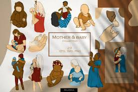 612 inspirational designs, illustrations, and graphic elements from the world's best. Mother Baby Clipart Graphic By Happywatercolorshop Creative Fabrica
