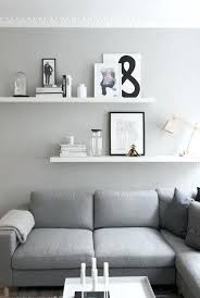 grey wall shelves l white wood carpet flooring painting classic frame windows x shelf with hooks