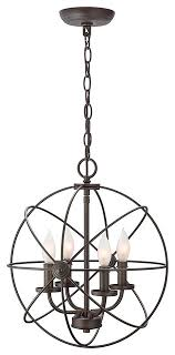 4 light modern sphere orb chandelier oil rubbed bronze finish