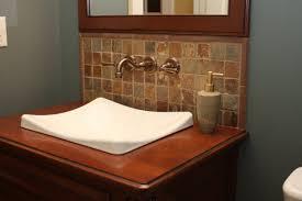 backsplash bathroom ideas. Surprising Design Backsplash For Bathroom Sink Ideas Tiles Tile One Piece Pedestal D