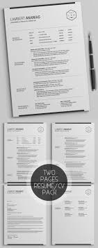 Simple Resume Template New Simple Clean CV Resume Templates Design Graphic Design 43