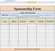 Sponsorship Template Forms Rome Fontanacountryinn Com