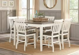 Keston White 5 Pc Square Counter Height Dining Room Dining Room