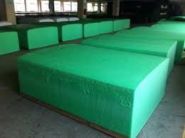 giant green loaves of foam