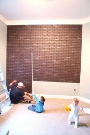 faux brick accent wall panels at lowe s into studs and paint