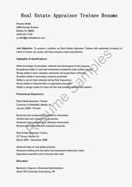 Commercial Real Estate Appraiser Sample Resume Programmer Trainee Resume Sample Resume Samples resame 100