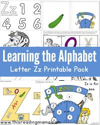 Alphabet z sound handwriting worksheets for kids including consonent sounds, short vowel sounds and phonics. Learning The Alphabet Free Letter Z Printable Pack