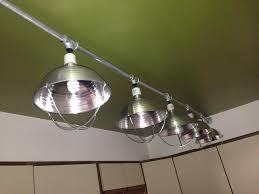 Kitchen Ceiling Light Fittings Custom Kitchen Light Made From Chicken Brooder Lights Emt Conduit